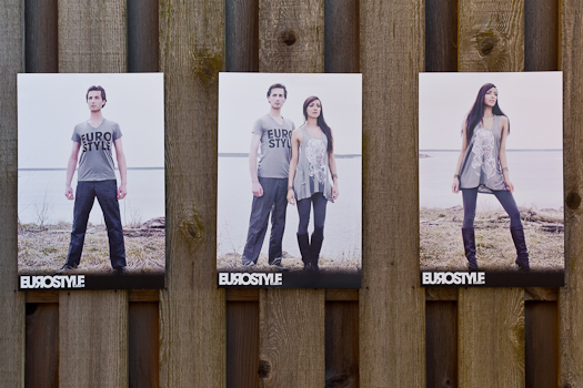 Eurostyle Apparel in store posters