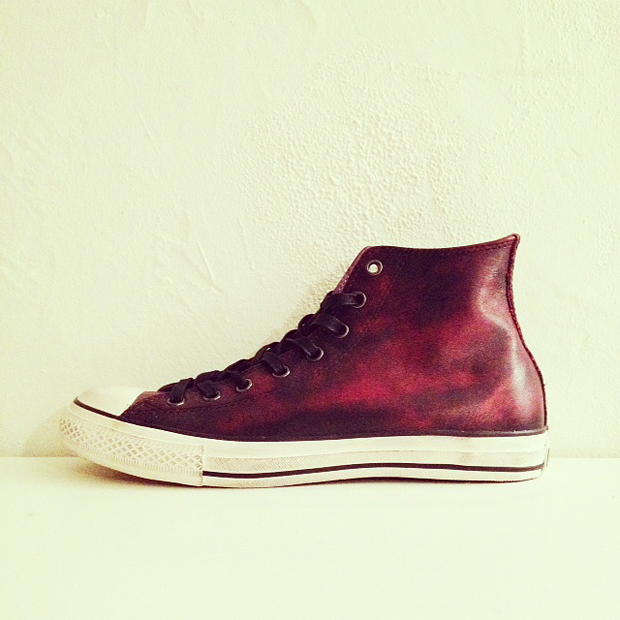 red leather chucks