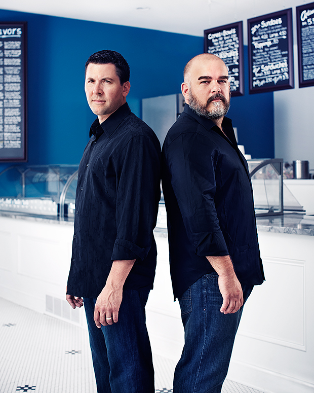 Lake Effect Ice Cream owners Erik Bernardi and Jason Wulf