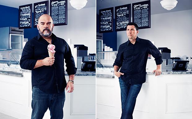 Jason Wulf and Erik Bernardi of Lake Effect Ice Cream