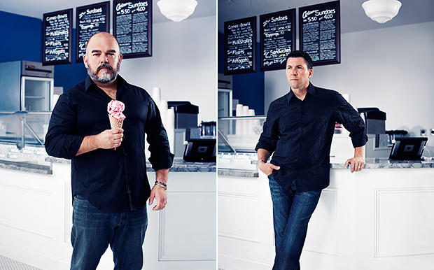 Jason Wulf and Erik Bernardi of Lake Effect Ice Cream