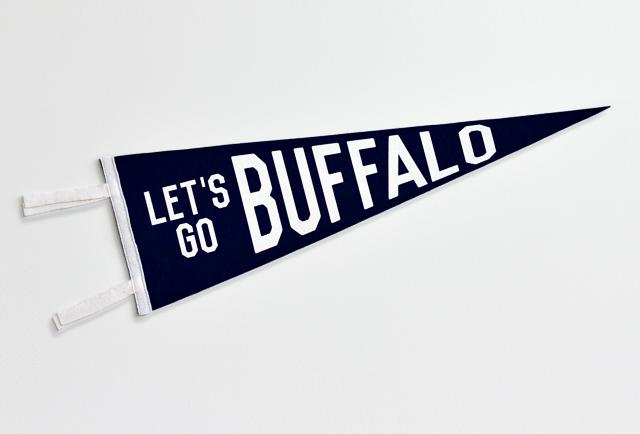 """Oxford Pennant Company """"Let's Go Buffalo"""" Pennant"""
