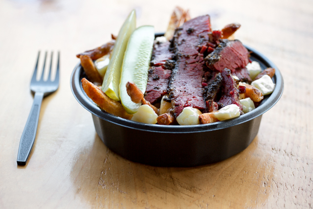 The Montreal Smoked Meat Poutine at Allen Strett Poutine Company in Buffalo, New York