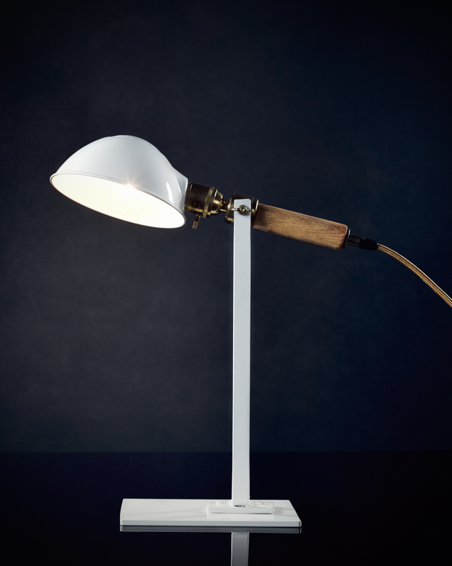 Desk lamp designed by Andrew Emerson of Emerson James Inc