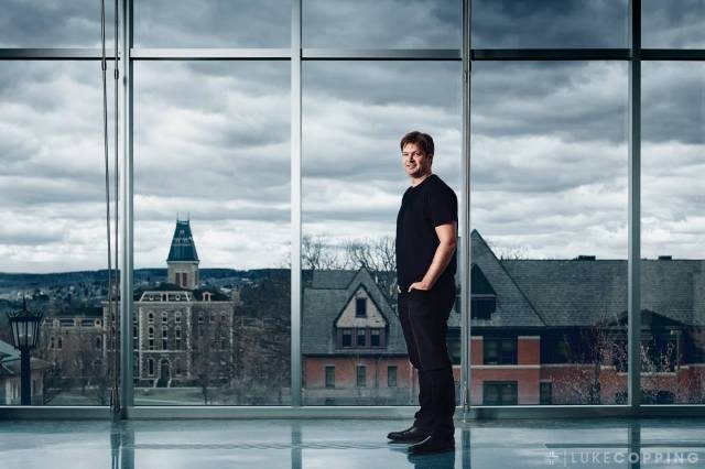 MacArthur Genius grant recipient Will Dichtes photographed at Cornell University for Northwestern University