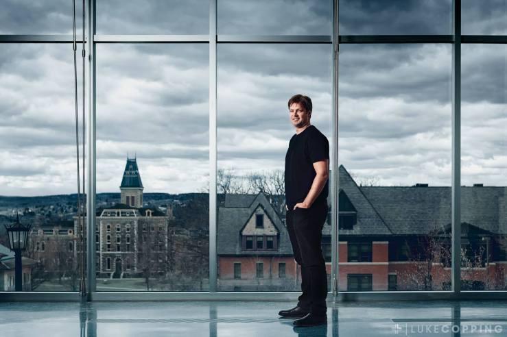 MacArthur Genius grant recipient Will Dichtes photographed at Cornell University for Northwestern University
