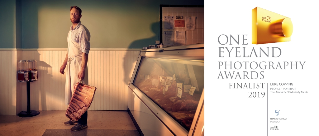 A portrait of Tom Moriarty of Moriarty Meats in Buffalo NY which placed as a finalist in the 2019 One Eyeland Awards.